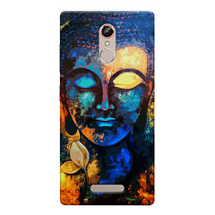 Beautiful Buddha abstract painting full of colors design  Gionee s6s hard plastic printed back cover