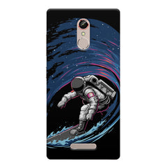Astronaut space surfing design    Gionee s6s hard plastic printed back cover