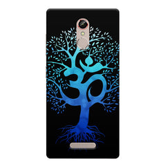 A beautiful blue tree with Om inscribed Gionee s6s hard plastic printed back cover
