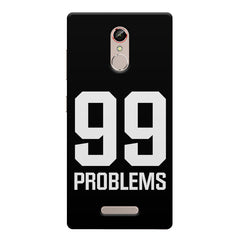 99 problems quote design    Gionee s6s hard plastic printed back cover