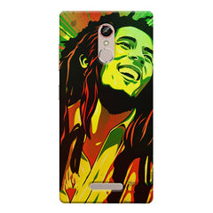 Bob Marley Multi colour fun Portrait Painting  capturing him in his happy avatar Gionee s6s hard plastic printed back cover