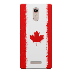 Canadian flag design    Gionee s6s hard plastic printed back cover