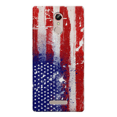 American flag design    Gionee s6s hard plastic printed back cover