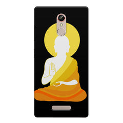 Buddha abstract painting    Gionee s6s hard plastic printed back cover