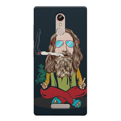 Baba Smoking Cigar design Gionee s6s hard plastic printed back cover
