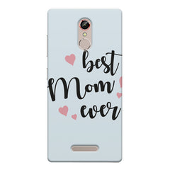 Best Mom Ever Design Gionee s6s hard plastic printed back cover