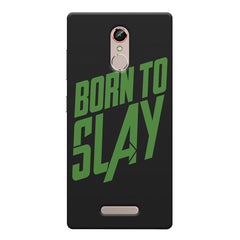 Born to Slay Design Gionee s6s hard plastic printed back cover