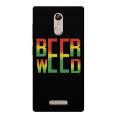 Beer Weed Gionee s6s hard plastic printed back cover