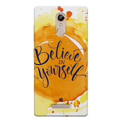 Believe in Yourself Gionee s6s hard plastic printed back cover