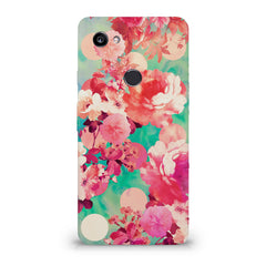 Floral  design,  Google Pixel XL 3 hard plastic printed back cover