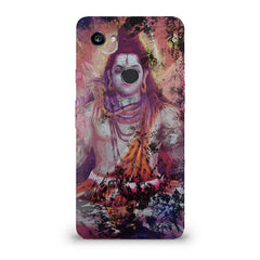 Shiva painted design Google Pixel XL 3 hard plastic printed back cover