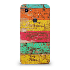 Strips of old painted woods  Google Pixel XL 3 hard plastic printed back cover
