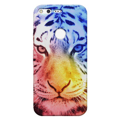 Colourful Tiger Design Google Pixel hard plastic printed back cover