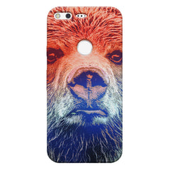 Zoomed Bear Design  Google Pixel hard plastic printed back cover