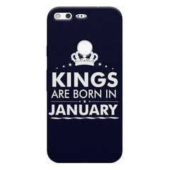 Kings are born in January design    Google Pixel hard plastic printed back cover