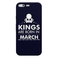 Kings are born in March design    Google Pixel hard plastic printed back cover