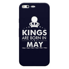 Kings are born in May design    Google Pixel hard plastic printed back cover