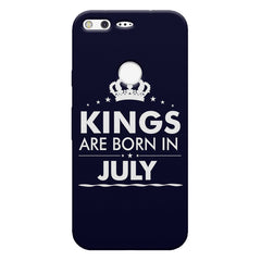 Kings are born in July design    Google Pixel hard plastic printed back cover