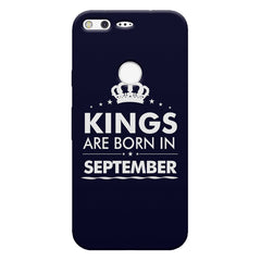 Kings are born in September design    Google Pixel hard plastic printed back cover