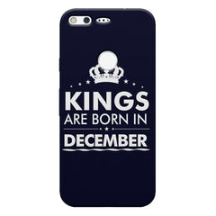 Kings are born in December design    Google Pixel hard plastic printed back cover