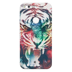 Tiger with a ferocious look Google Pixel hard plastic printed back cover