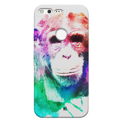 Colourful Monkey portrait Google Pixel hard plastic printed back cover
