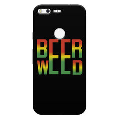 Beer Weed Google Pixel hard plastic printed back cover