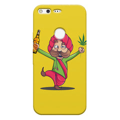 Sardar dancing with Beer and Marijuana  Google Pixel hard plastic printed back cover