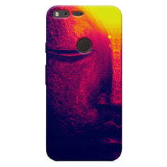 Half red face sculpture  Oppo Neo 7  printed back cover