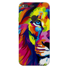 Colourfully Painted Lion design,  Oppo Neo 7  printed back cover
