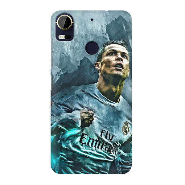 Oil painted ronaldo  design,  HTC 10 Pro  printed back cover