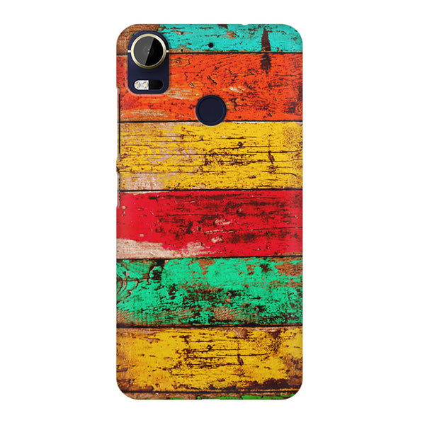 Strips of old painted woods  HTC 10 Pro  printed back cover