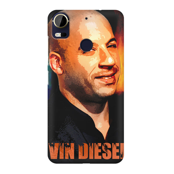Vin Diesel Oil Painting Fanart design,  HTC 10 Pro  printed back cover