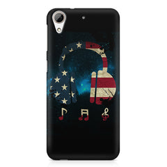 America tunes Blue sprayed  HTC Desire 626  printed back cover