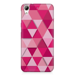 Girly colourful pattern HTC Desire 626  printed back cover