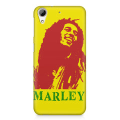 Red Bob Marley being high HTC Desire 626  printed back cover