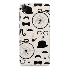 Retro theme for classic men HTC Desire 728 ( dual sim )  printed back cover