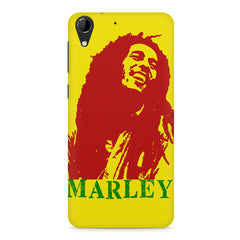 Red Bob Marley being high HTC Desire 728 ( dual sim )  printed back cover