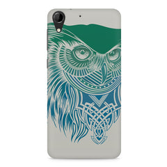 Owl Sketch design,  HTC Desire 728 ( dual sim )  printed back cover