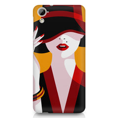 Classy girl  design,  HTC Desire 820 printed back cover