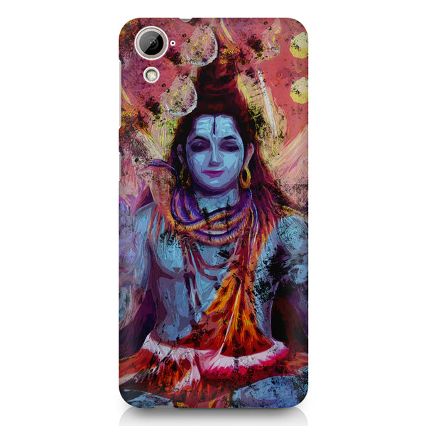 Shiva painted design HTC 826 (Dual Sim) printed back cover