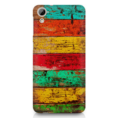 Strips of old painted woods  HTC Desire 820 printed back cover