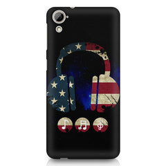 America tunes Blue sprayed  HTC Desire 820 printed back cover