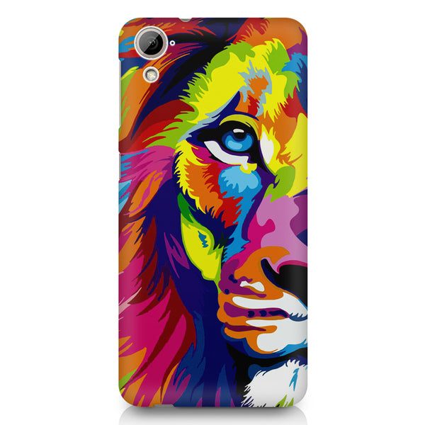 Colourfully Painted Lion design,  HTC 826 (Dual Sim) printed back cover