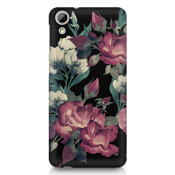 Abstract colorful flower design HTC 826 (Dual Sim) printed back cover