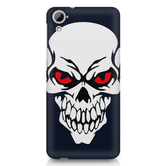 Skull with red eyes design HTC Desire 626 printed back cover