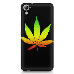 Marihuana colour contrasting design HTC Desire 626 printed back cover