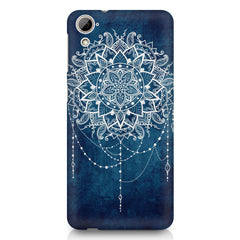 Ethnic design on blue pattern HTC Desire 626 printed back cover