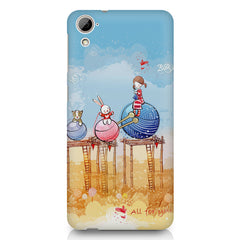 Woollen ball ride sketch design HTC Desire 626 printed back cover