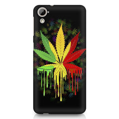 Marihuana colour contrasting pattern design HTC Desire 626 printed back cover